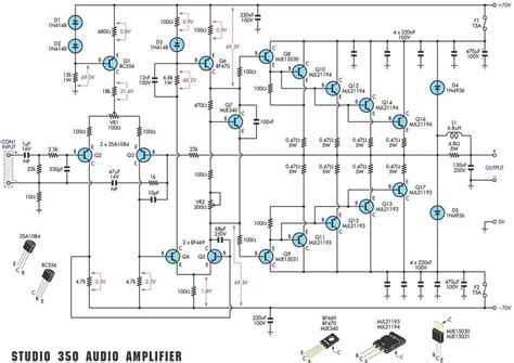 Studio Amplifier Circuit Scheme Pcb Layout