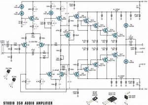 350 Studio Amplifier Circuit Scheme And Pcb Layout