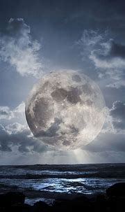 Super Moon Over Sea Smartphone Wallpapers HD ⋆ GetPhotos