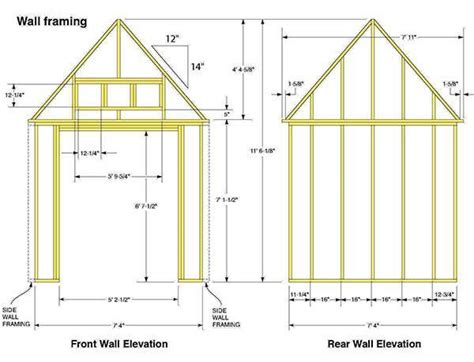 7 215 14 gable shed plans blueprints for making a large