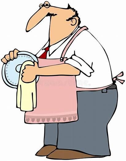 Drying Dishes Dish Mann Geschirr Trocknen Clipart