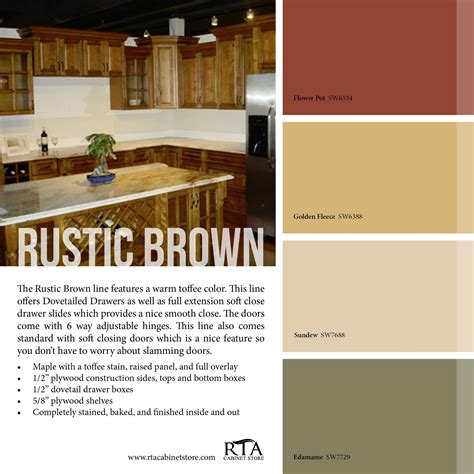 color palette to go with our rustic brown kitchen cabinet