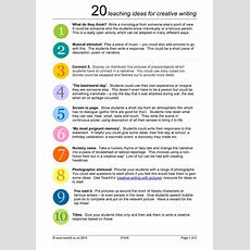 20 Teaching Ideas For Creative Writing