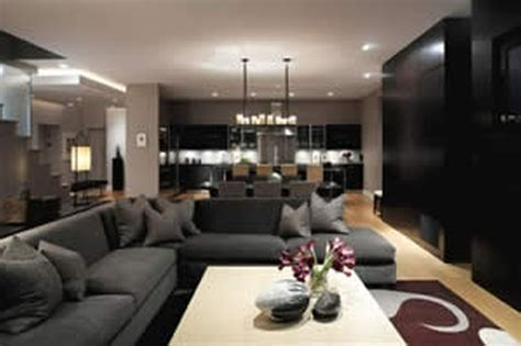 Contemporary L Shaped Black Fabric Living Room Sofas And