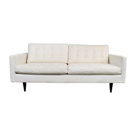 73 Off Crate And Barrel Crate Barrel White Twill
