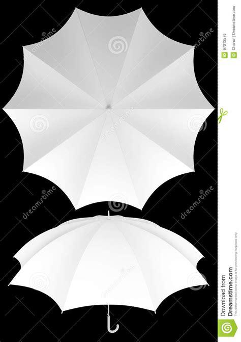 rib blank umbrella template isolated stock photo