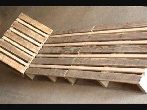 chaise longue en palette bois fabriquer une chaise longue design en palette