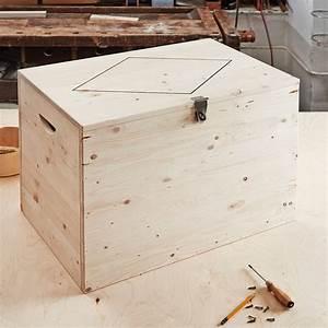 Coffre Rangement Bois : fabriquer un coffre en bois marie claire ~ Teatrodelosmanantiales.com Idées de Décoration