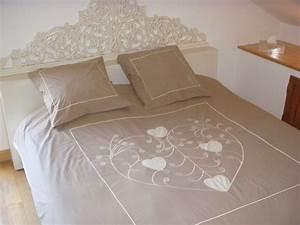 Housse De Couette Ecru : housse de couette arabesque beige 260x240 linge de maison ~ Teatrodelosmanantiales.com Idées de Décoration