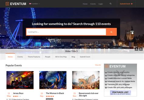 #1 Event Directory Theme Of [2019]