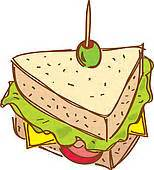 Gallery For > Sandwich Wrap Clipart Free