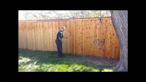 jim39s fence co clear glow stain youtube With clear fence paint