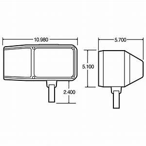 Economy  Universal  Halogen  4 X 6 In  Rectangular  Snow Plow Light  2 Bulb  Polycarbonate  12v