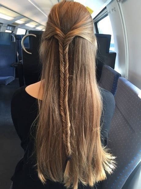 everyday hairstyles  long straight hair
