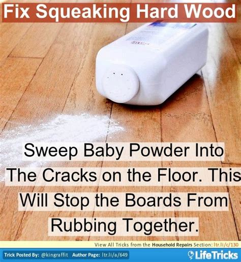 Stop Squeaky Floors Baby Powder by 80 Best Images About Building Renovating And Repair Hacks