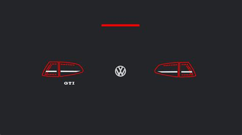 mk gti euro taillights minimalist wallpapers