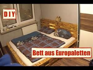 Mbel Aus Europaletten Paletten Bett Mit LED Beleuchtung