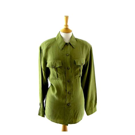 lime green blouse lime green silk blouse blue 17 vintage fashion