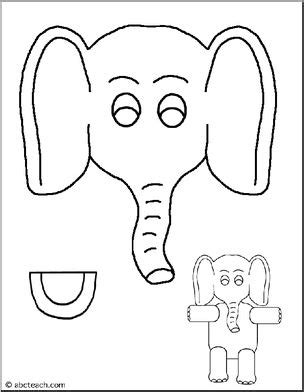 elephant paper bag puppet paper bag puppet animals elephant abcteach 4397