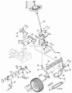 Mtd 13ax615h730  2007  Parts Diagram For Steering Assembly