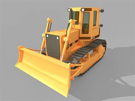 tracked bulldozer  model ds max files
