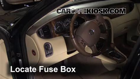 interior fuse box location   jaguar  type