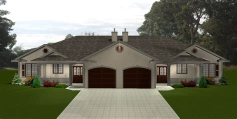 Large Modern House Plans With Garage Image — Modern House