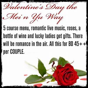 Valentine's Day Special @ Mei n Yu - Events ...