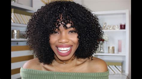 Diy Curly Wig With Bangs In 30 Minutes