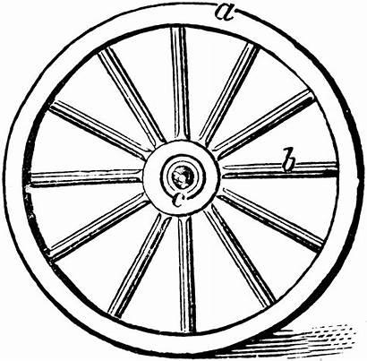 Wheel Wagon Clipart Wheels Clip Parts Train