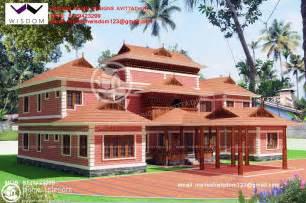traditional kerala home interiors 2956 sqft beautiful nalukettu model home plan