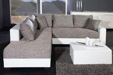 canapé convertible blanc et gris canape convertible gris blanc maison design modanes com