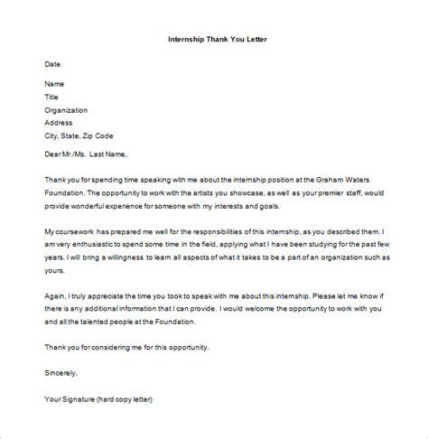 internship thank you letter internship thank you letter 9 free word excel pdf 22569 | Free Internship Interview Thank You Letter MS Word Download