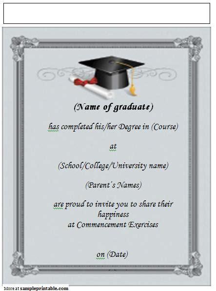 Cover Template College Graduation2015 2016 by Printable Graduation Announcement Invitation Yep I M