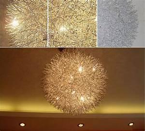 Handmade aluminum pendant lamp wire round ball ceiling