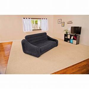 intex queen inflatable pullout air sofa bed mattress With intex sofa bed