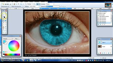 cambiar el color de ojos en paint net youtube