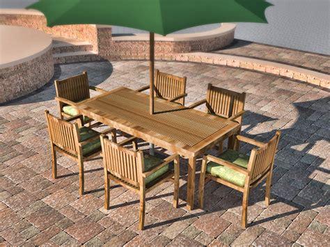 second hand wooden garden furniture