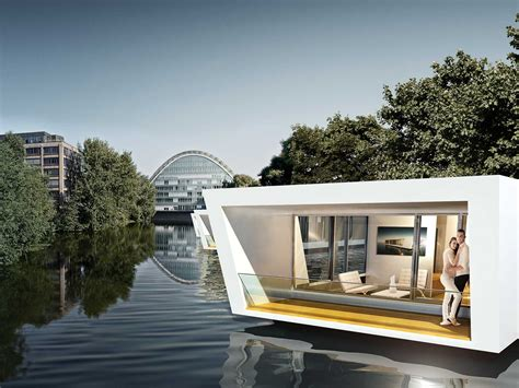Moderne Häuser In Hamburg Kaufen by Floating Homes In Hamburg Architecture Pontoon House
