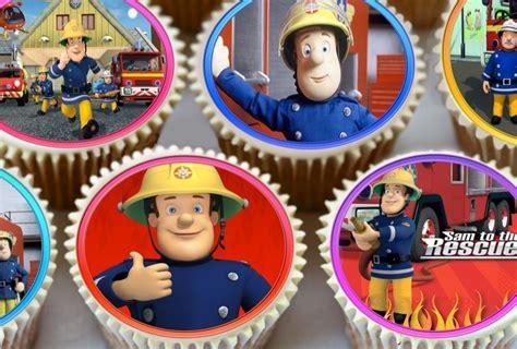 feuerwehrmann sam kuchen deko cupcake deko 24stk feuerwehrmann sam premium reispapier