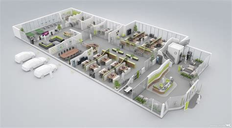 floor plan   modern green office floor