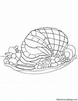 Ham Coloring Christmas Pages Getdrawings sketch template