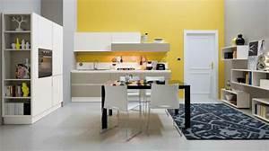 Deco Murale Blanche : d co cuisine moderne 50 propositions en couleurs vives ~ Teatrodelosmanantiales.com Idées de Décoration