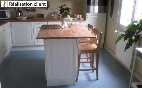 fabriquer un ilot de cuisine en bois ilot de cuisine avec plan de travail en hêtre le du