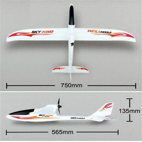 RC Plane Glider Sky King 3 Channel 2.4GHz Remote Control