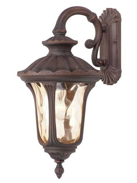 outdoor sconce bronze imperial bronze livex oxford 1 light outdoor wall sconce