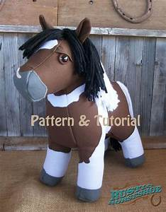 Horse Doll Plush Horse Toy Sewing Pattern and Tutorial ...