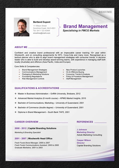 Professional Cv Template Word by Cv Format Professional Editable Cv Format