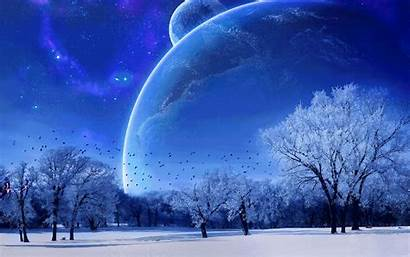 Winter Desktop Animated Space Snow Gifs Wallpapers