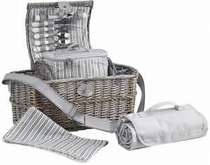 Panier Picnic Isotherme : panier pique nique osier gris avec compartiment isother ~ Teatrodelosmanantiales.com Idées de Décoration